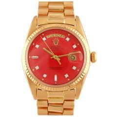 ROLEX Rare Rose Gold & Diamond Stella Dial
