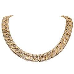BULGARI Diamond & Yellow Gold Collar Necklace