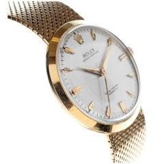 ROLEX All-Original & Unique Gold Stylized Bracelet Dress Watch