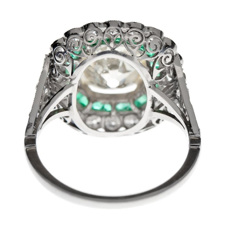 cushion cut fancy light yellow antique and emerald