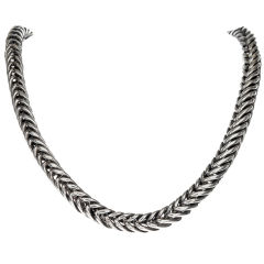 HERMES 1960's Sterling Silver Necklace