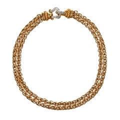 DAVID YURMAN Diamond & Yellow Gold Chain Necklace