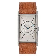 ROLEX early 1940s Rectangular Wristwatch sold by Bucherer