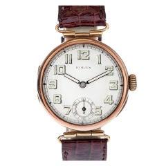 ROLEX 1920s Vintage Rose Gold Unique Lug Wristwatch