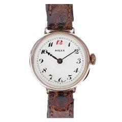 1920s Vintage Lady's Rose Gold Rolex Watch
