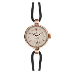 ROLEX Lady's PINK GOLD 1940's Precision Wristwatch
