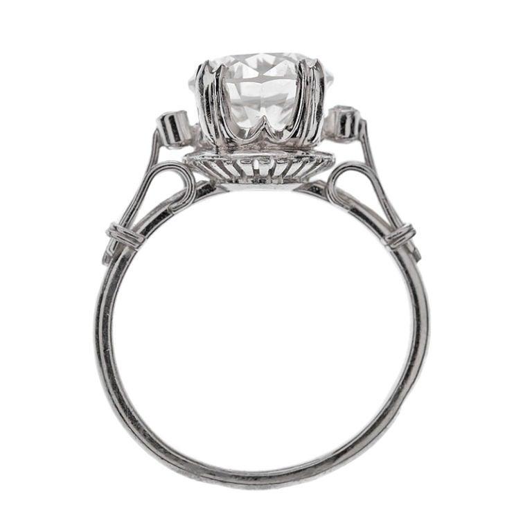 brilliant cut platinum ring and wedding band