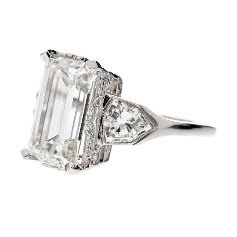 Emerald Cut & Shield Cut Diamond Engagement Ring 2