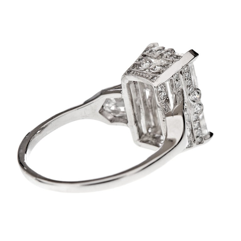 Emerald Cut & Shield Cut Diamond Engagement Ring 3