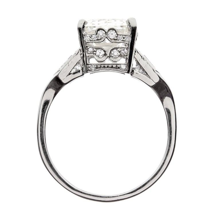 Emerald Cut & Shield Cut Diamond Engagement Ring 4