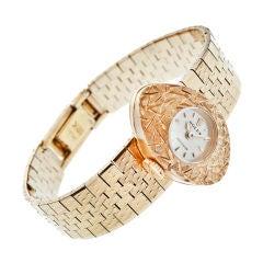 """ROLEX 1960's Lady's """"Slide"""" Yellow Gold Stylized Wristwatch"""