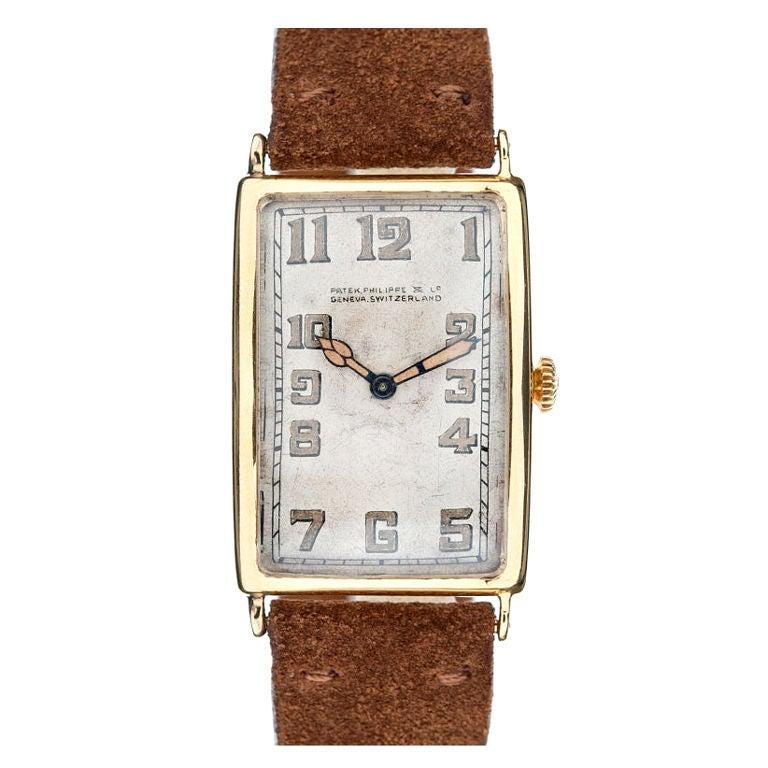 PATEK PHILIPPE c1926 Yellow Gold Oversized Wristwatch at ...