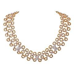 TIFFANY & CO Diamond Yellow Gold Collar Necklace