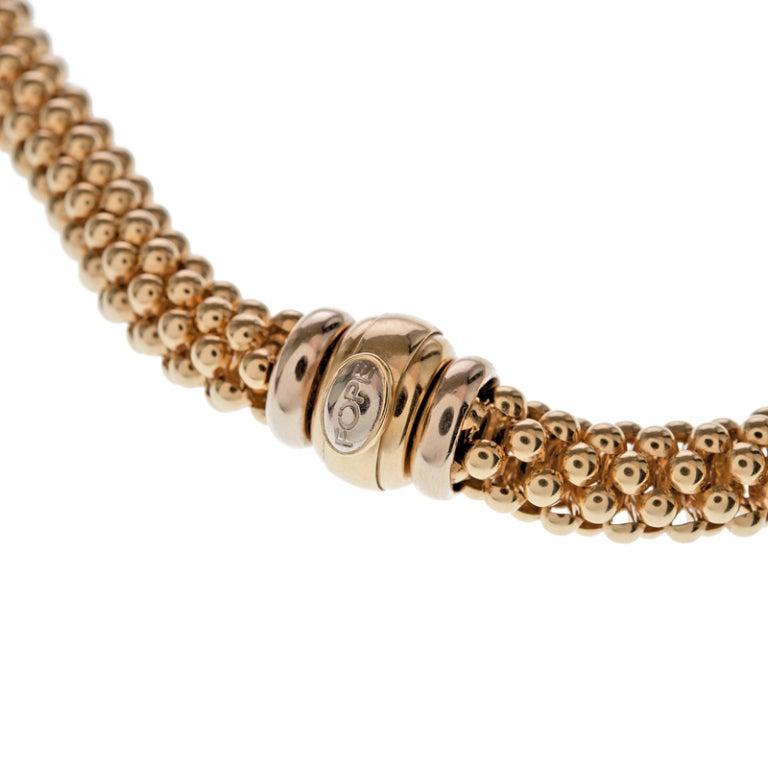 Fope gioielli yellow gold designer necklace at 1stdibs for Designer gioielli