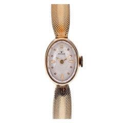 ROLEX Lady's Stylized Yellow Gold Bracelet Watch