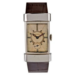 ROLEX Art Deco 1930s Patina Dial Stainless Steel Wristwatch