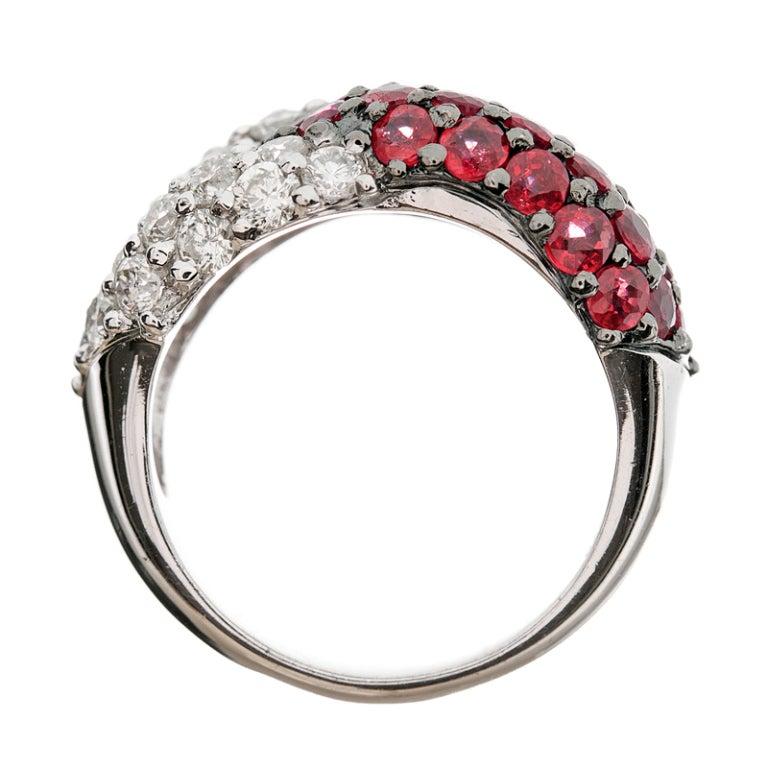 ruby black rhodium white gold designer ring at 1stdibs