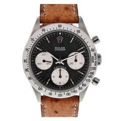 ROLEX Mint Condition Daytona ref. 6239 Black Dial Chronograph