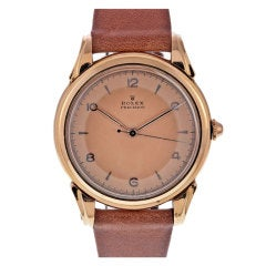 ROLEX French Contract Case Stylized Rose Gold Precision