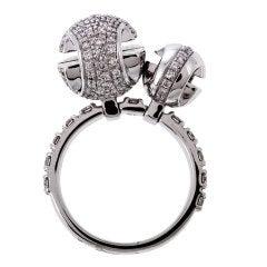 GUCCI Diamond White Gold  Unique Sphere Ring