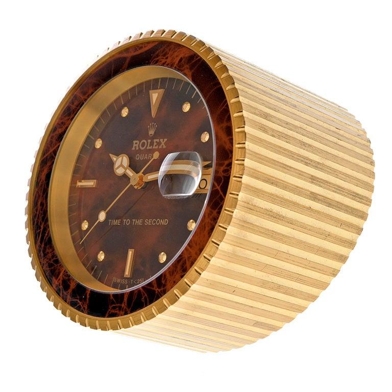 Rolex 1970s Quartz Desk Clock At 1stdibs