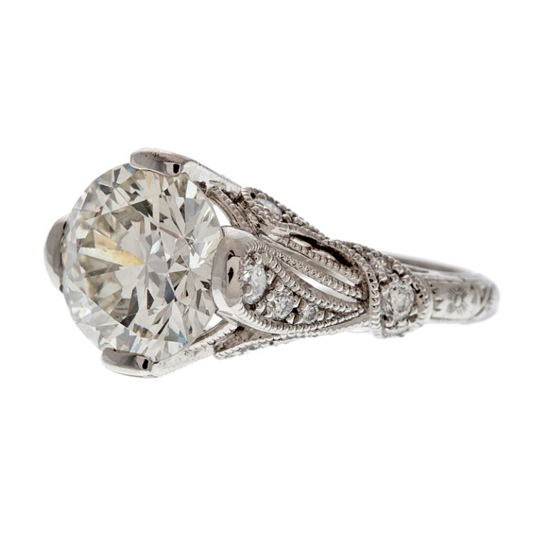 The gallery for --> Diamond Leaf Engagement Ring