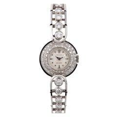 ROLEX 1950s White Gold Lady's Diamond Wristwatch