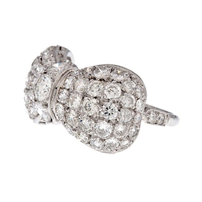 1950s platinum bow ring at 1stdibs
