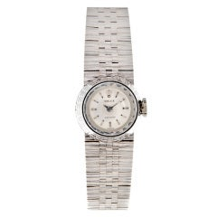 """ROLEX 1950s Lady's White Gold """"Orchid"""" Precision Wristwatch"""