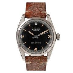"ROLEX ""COMMANDO"" Rare Military Steel Wristwatch"