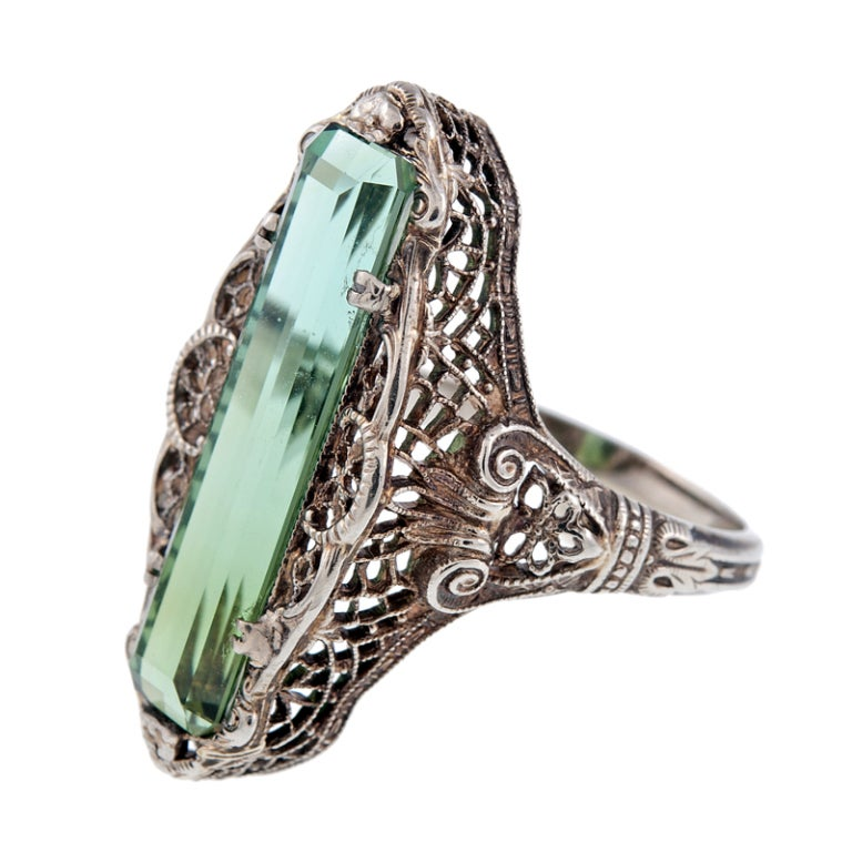 antique green tourmaline ring circa 1900 at 1stdibs