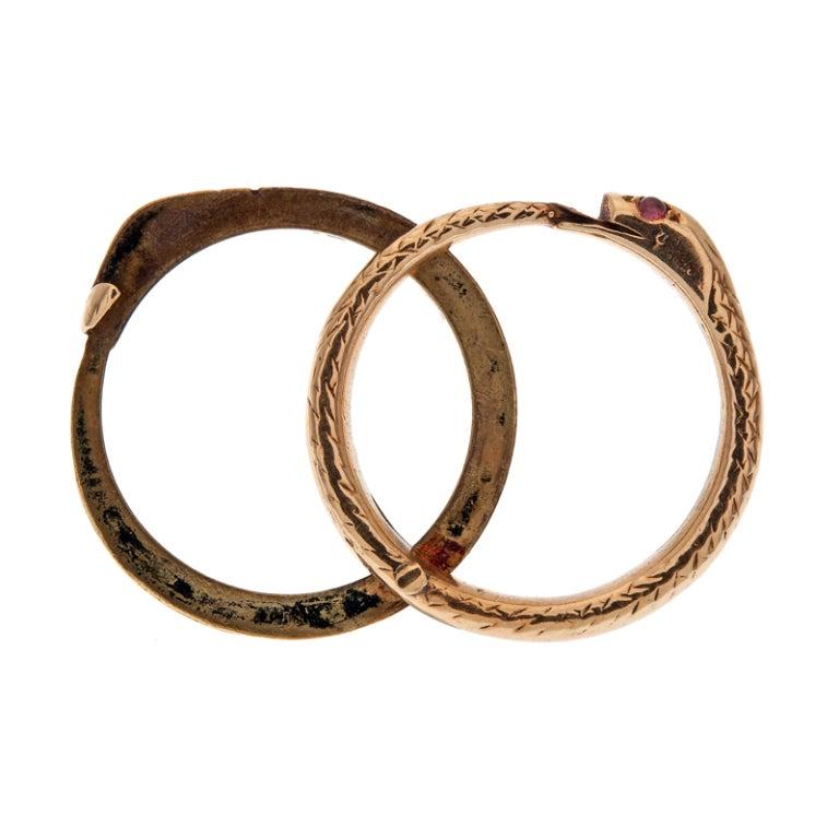 georgian antique snake hairlocket ring circa 1795 at 1stdibs