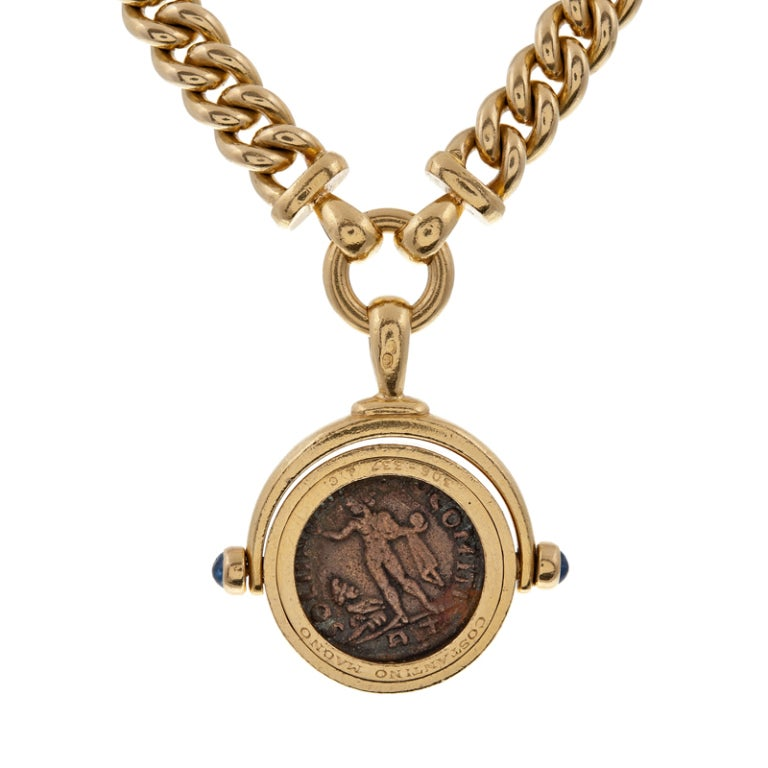 bulgari ancient bronze coin necklace at 1stdibs