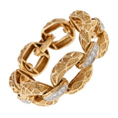 Hammerman Brothers Diamond Gold Link Bracelet