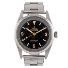 ROLEX Stainless Steel Early Honeycomb Dial First Series Explorer circa 1953