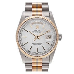 "ROLEX White, Rose and Yellow Gold ""Tridor"" Day-Date President"