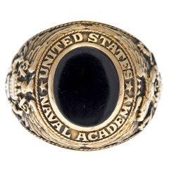 """Tiffany & Co"" United States Naval Academy Onyx Ring"