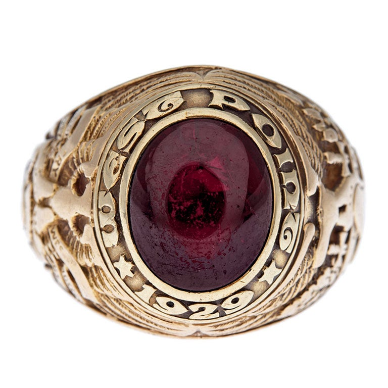 Quot Tiffany And Co Quot West Point Garnet Ring 1929 At 1stdibs