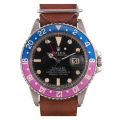ROLEX Tiffany & Co GMT-Master with Faded Bezel Ref 1675