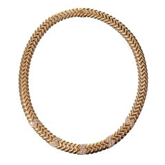 "BULGARI ""Spiga""  Diamond Collar Necklace"