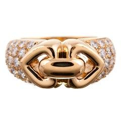 Bulgari Yellow Gold and Diamond Ring