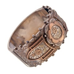 Sterling Silver Victorian Bangle Bracelet