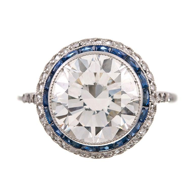 brilliant sapphire and platinum filigree