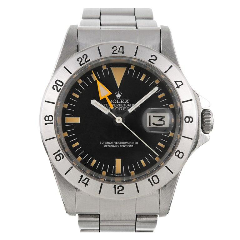 Rolex first series straight hand explorer ii steve mcqueen watch at 1stdibs for Mcqueen watches