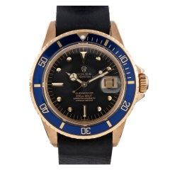 ROLEX Yellow Gold Early Production Meters-First Submariner Watch