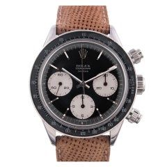 ROLEX Early Ref. 6240 Daytona with Rare Black Non-Oyster Dial
