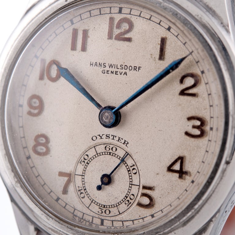 ROLEX Rare and Historically Important Steel Hans Wilsdorf Oyster Wristwatch image 3