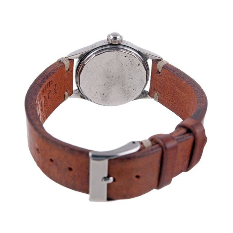 ROLEX Rare and Historically Important Steel Hans Wilsdorf Oyster Wristwatch image 6