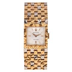 ROLEX Rare Lady's Three-Color Gold Precision Bracelet Watch