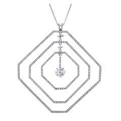 Daniel K Fine Diamond Geometrically Stylized Platinum Necklace